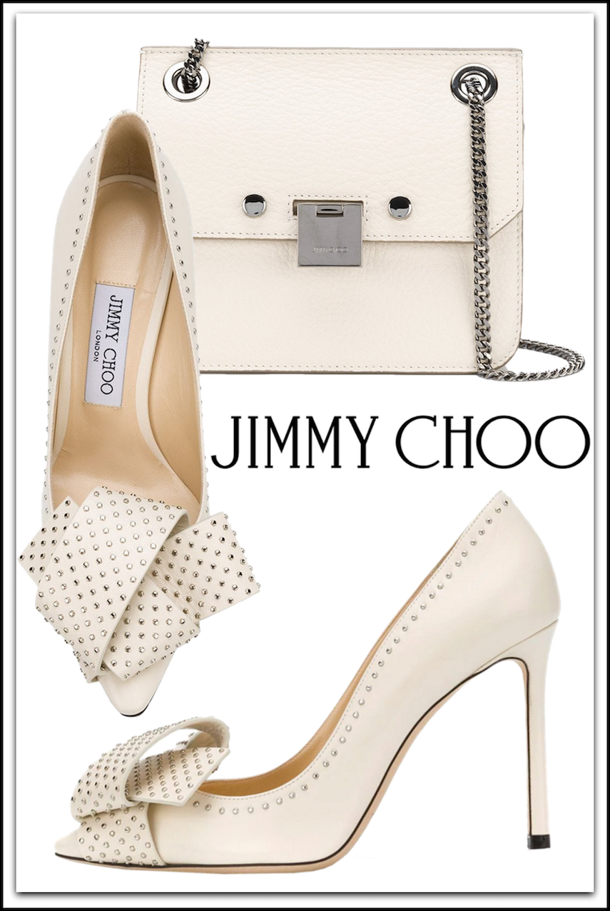 JIMMY CHOO Rebel Mini Cross Body Bag and JIMMY CHOO Tegan 100 Pumps