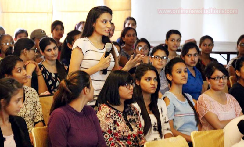 A student sharing her views during first meeting of Women Empowerment Cell at PCTE