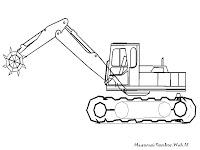 Mewarnai Kendaraan Konstruksi Mewarnai Gambar