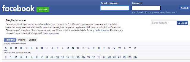 facebook senza registrarsi