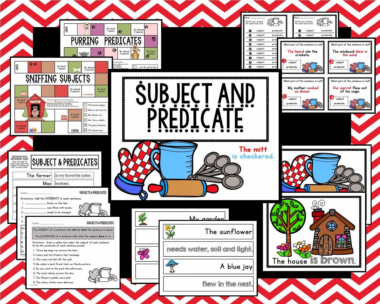 Lory S 2nd Grade Skills Subject And Predicate