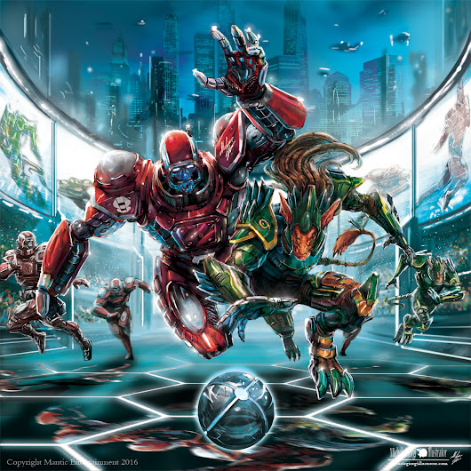 Dreadball 2 cover! :) for Mantic Games ! Copyright Mantic Entertainment 2016