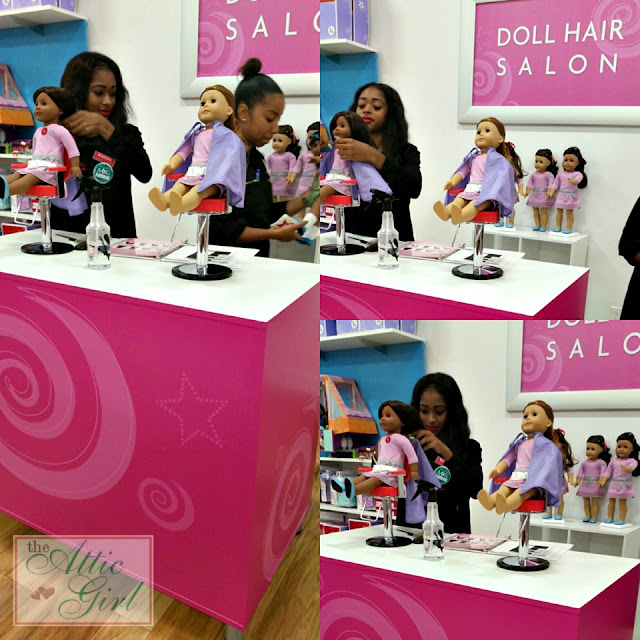 American Girl dolls, doll styles, doll hair salon