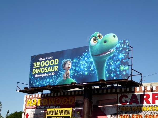 Good Dinosaur special extension movie billboard