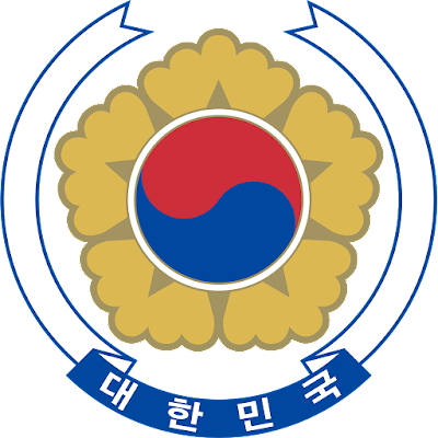 Coat of arms - Flags - Emblem - Logo Gambar Lambang, Simbol, Bendera Negara Korea Selatan