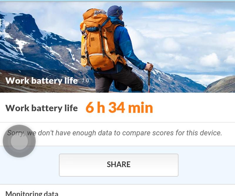 Battery test result