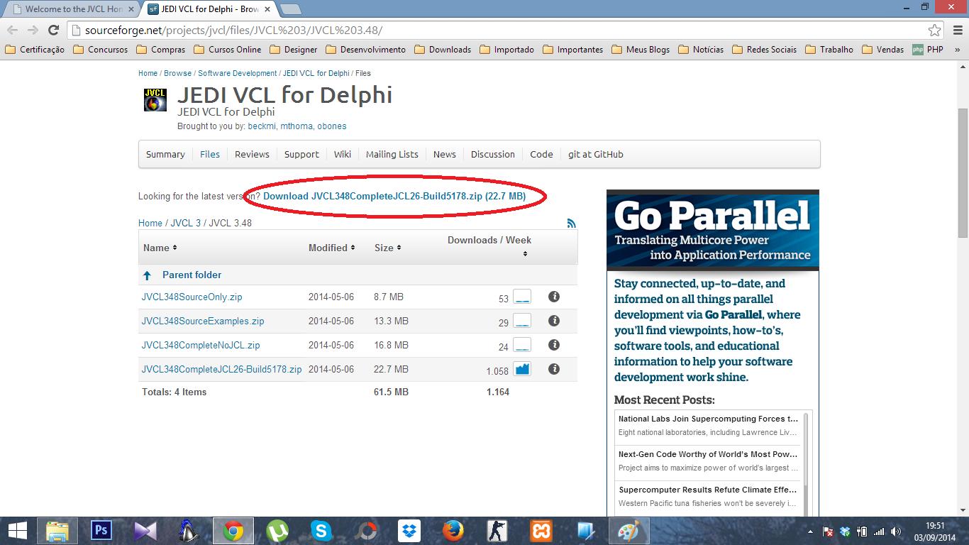jvcl pour delphi 7