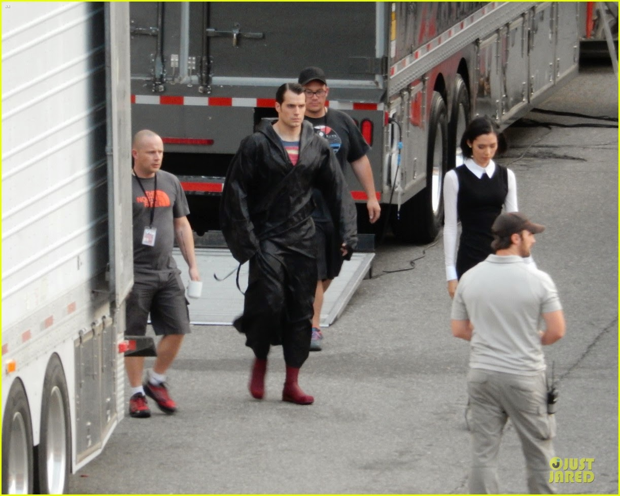 Henry Cavill en el rodaje de 'Batman V Superman: Dawn of Justice'