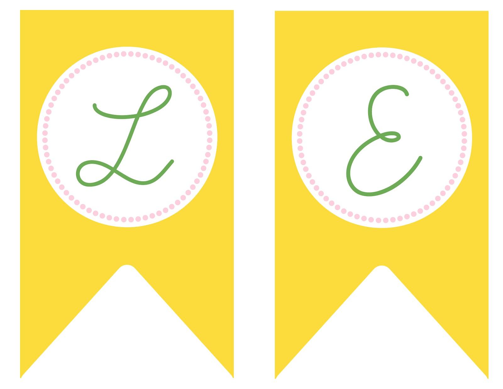 Sophie S Lemonade Stand Free Lemonade Banner Printable