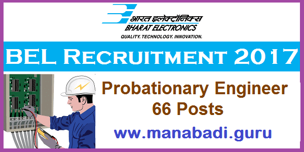 Latest, Engineer Jobs, Bharat Electronics Limited, Probationary Engineers, BEL Recruitment