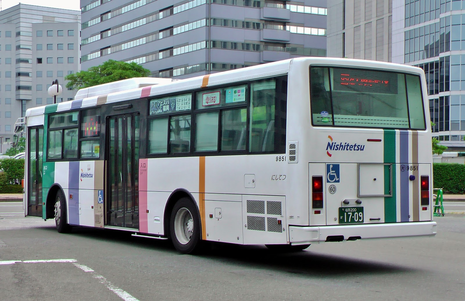 広島のバス: 西鉄バス 福岡200か1709