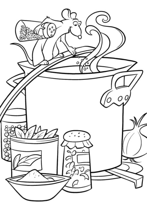 ratatoulle coloring pages - photo#12