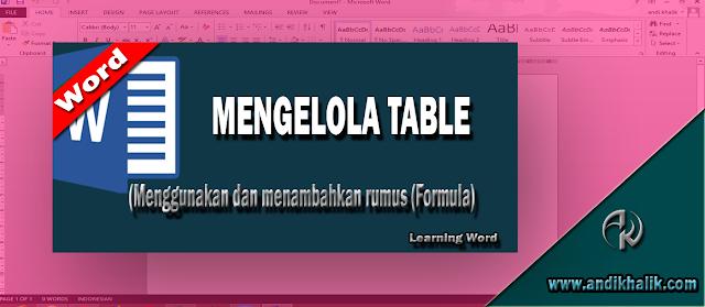 Cara Menggunakan dan menambahkan rumus (Formula) pada tabel Microsoft Word