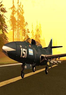 Free Download F9F Cougar - Comando de Aviación Naval Argentina V2 Mod for GTA San Andreas.