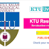 KTU Revaluation results published