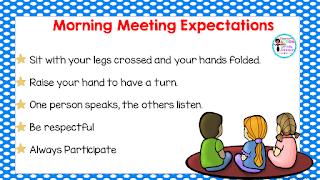 https://www.teacherspayteachers.com/Product/Morning-Meeting-Expectations-2149983