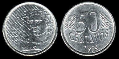 Brazil 50 Centavos (1994,1995)