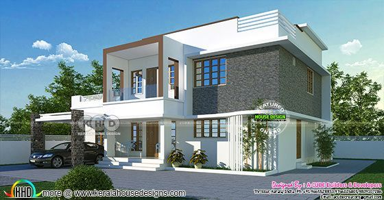Flat roof villa with 5 BHK