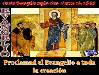 Resultado de imagen para En aquel tiempo, se apareció Jesús a los Once y les dijo: