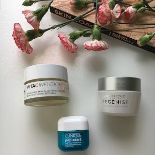 3 produkty, to seria mini recenzji, dziś  krem na dzień z Clinique, Dermedic oraz Mincer.