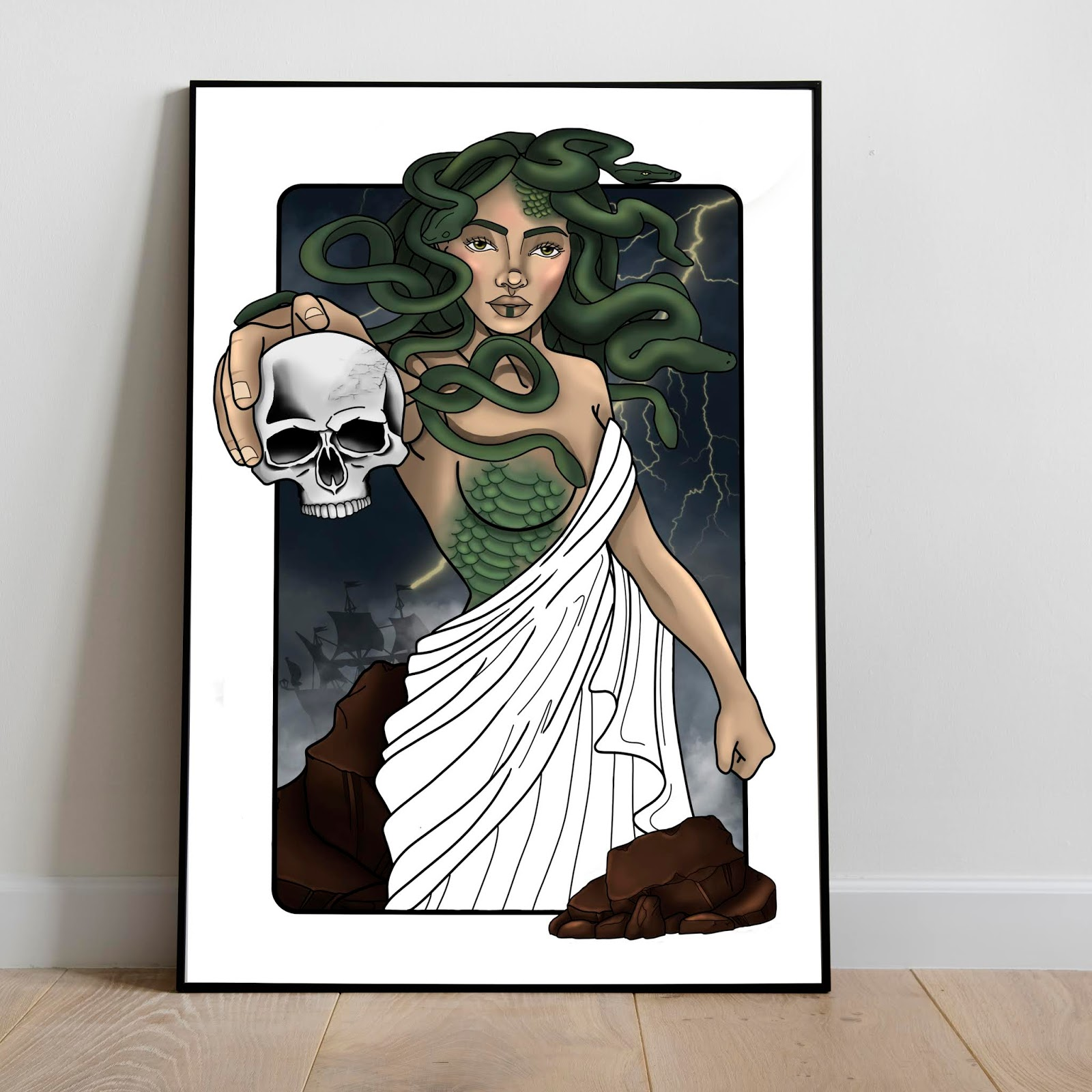 Medusa art print for sale by Konstantina Antoniadou