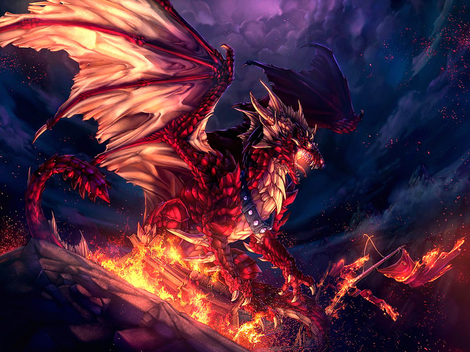 Red Fire Dragon: Wallpaper Proslut: Spectacular Villain Wallpapers In Full HD