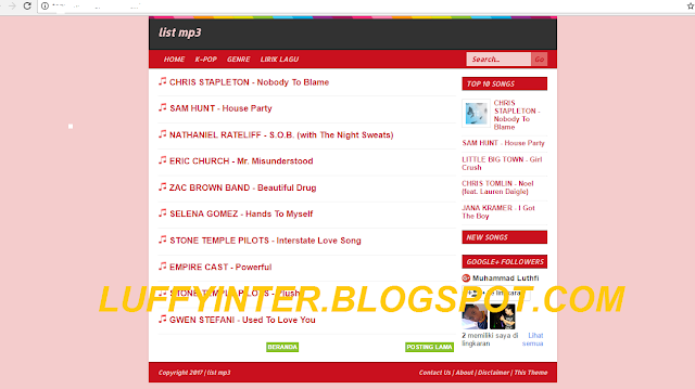 BroSenseMp3, Template Paling Mantap untuk Blog Download Mp3