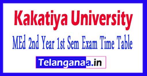Kakatiya University MEd 2nd Year 1st Sem Time Table 2018