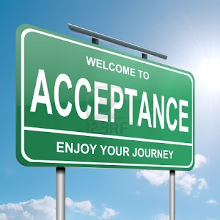 acceptance road sign onequartermama.ca whatyouhavealwaysknown.com