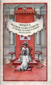 Réception maçonnique et templière en 1775