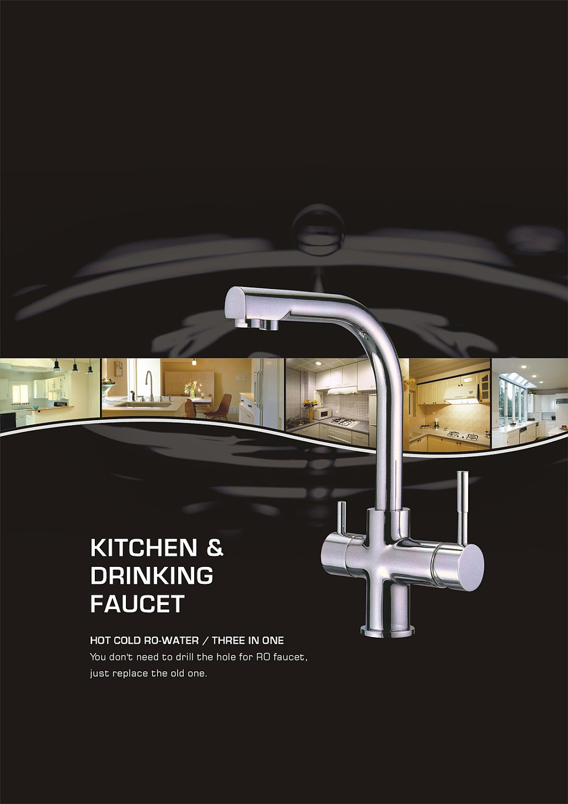 PurePro ® USA Kitchen & Drinking Faucet Part #207 Tree in One RO Faucet