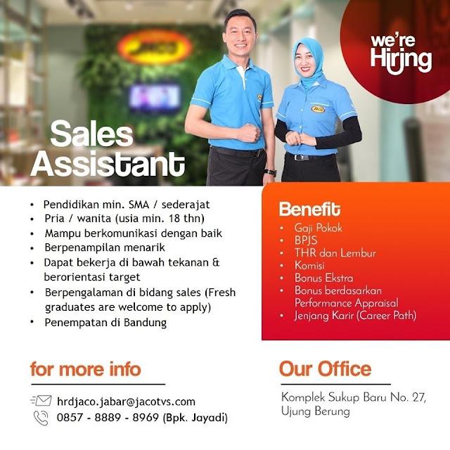 Lowongan Kerja JACO Bandung