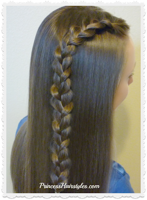 1 lace french braid, hairstyle for school.
