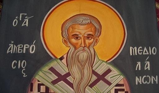 ο Άγιος Αμβρόσιος, Επίσκοπος Μεδιολάνων