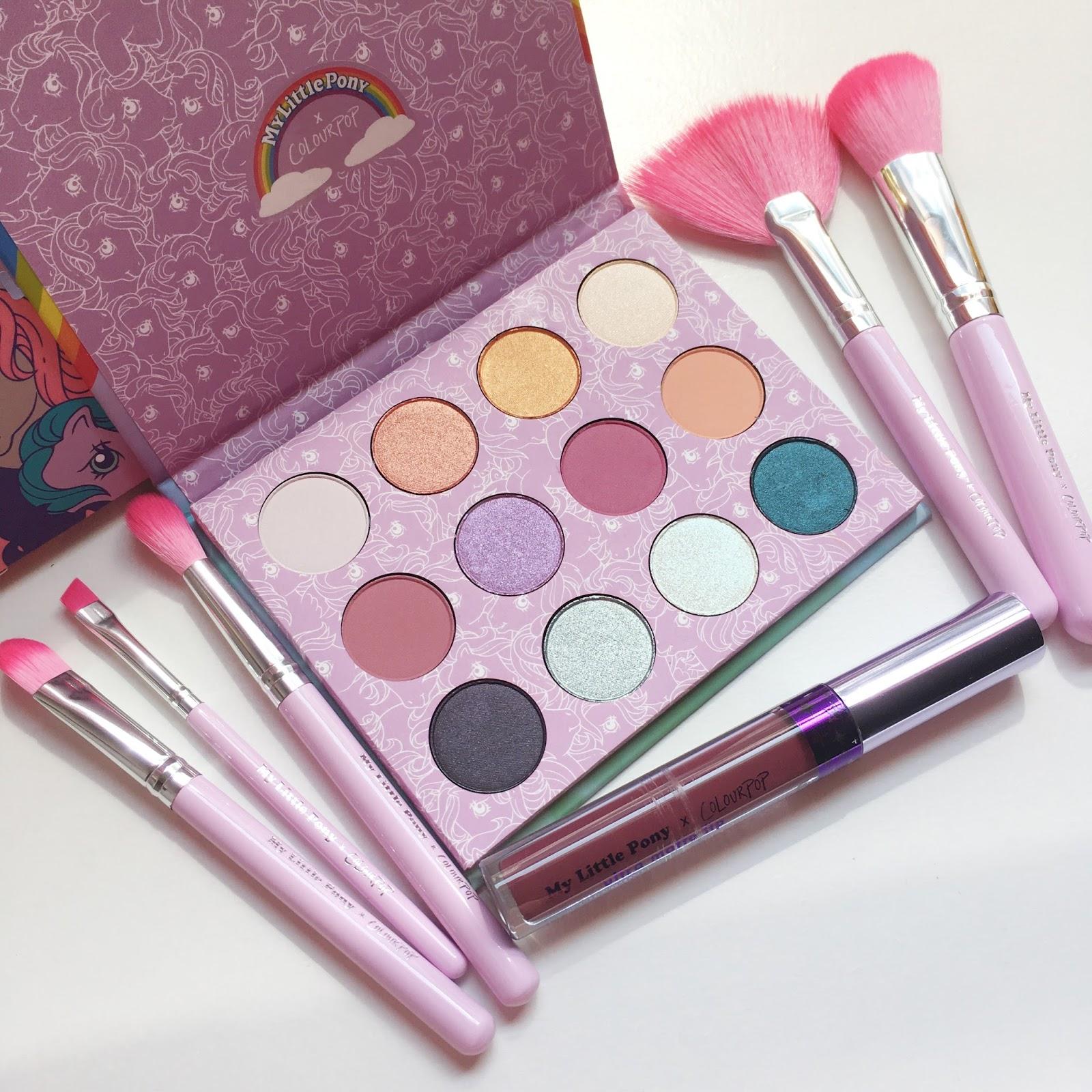 Marshmallow Beauty Blog Reviews Colourpop My Little Pony Palette Review