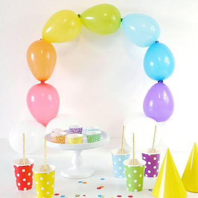 DIY Décor Facile Balloons Arc-en-Ciel