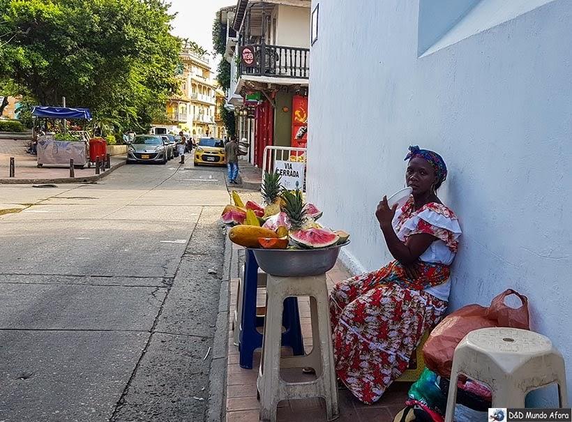 Palenquera de Cartagena - Diário de bordo: 4 dias em Cartagena, Colômbia