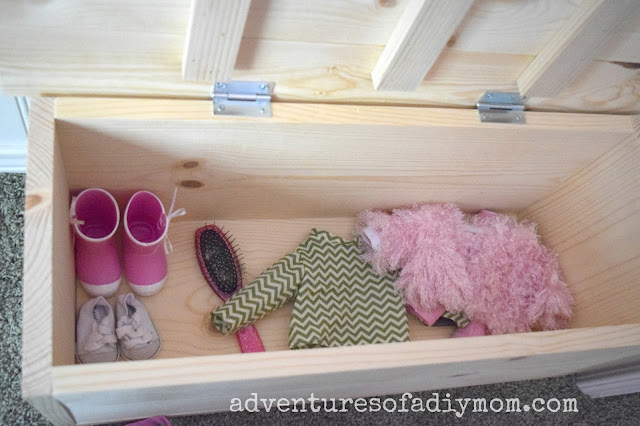 wooden toy box used for toy storage