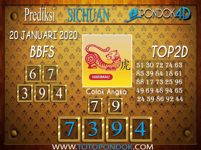 Prediksi Togel SICHUAN PONDOK4D 20 JANUARI 2020