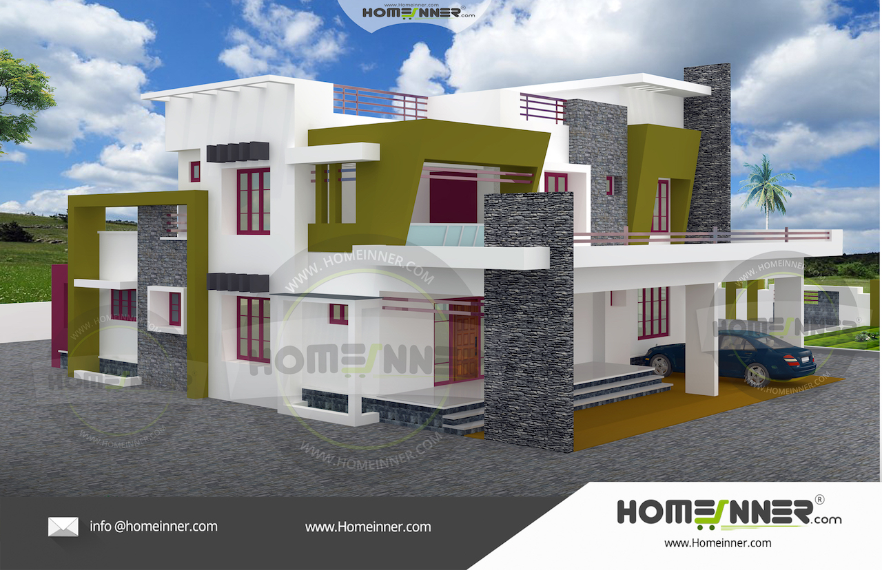 Kerala home design in 20 cent