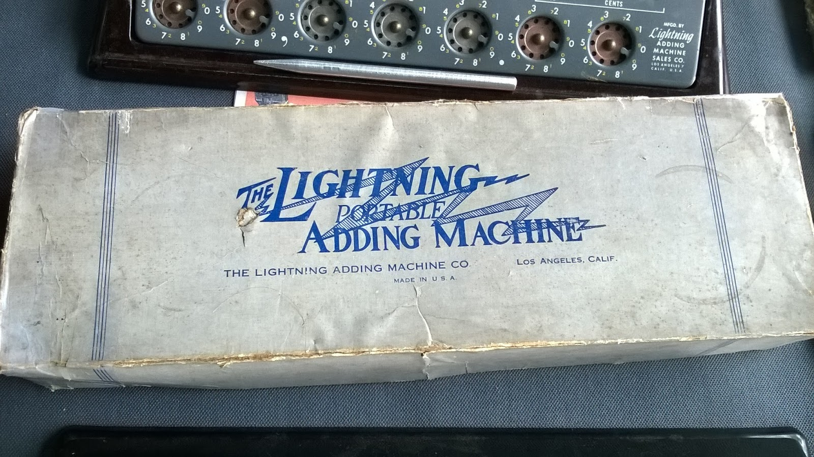 Original Lightning Adding Machine Box