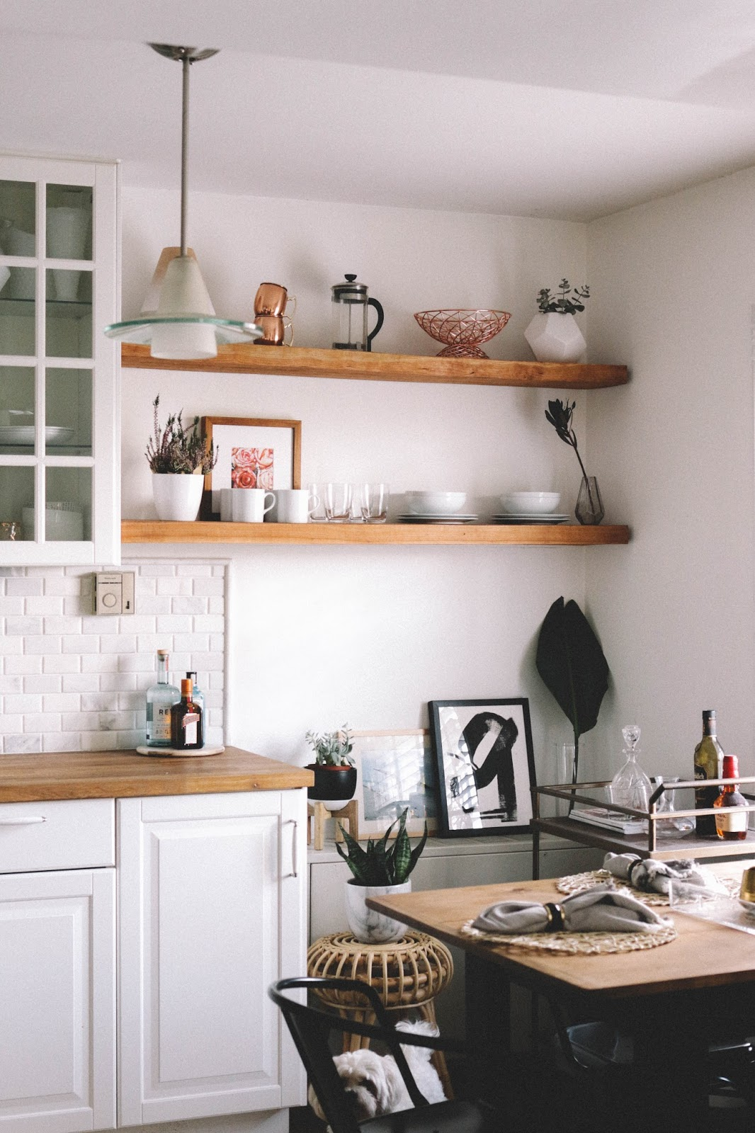 DIY: How To Custom Make Your Own Exposed Kitchen Shelves