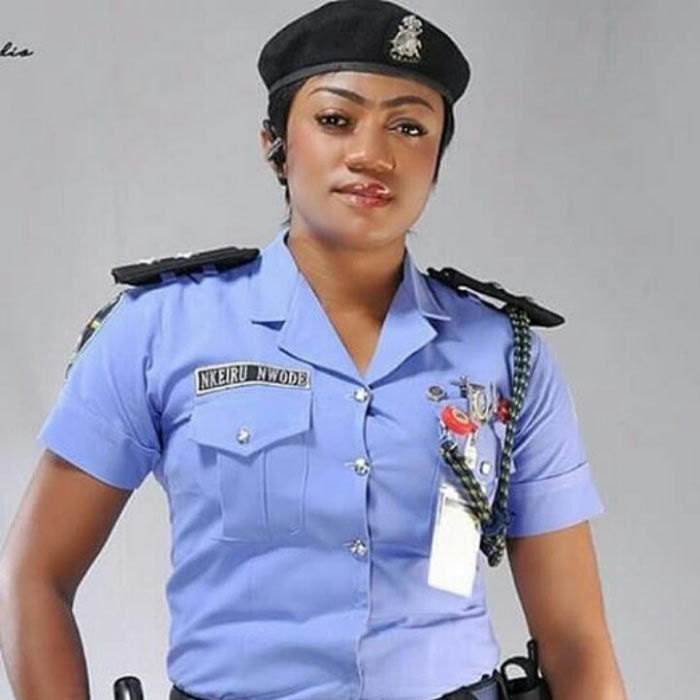 Beautiful policewoman Nkeiru Nwode stuns social media