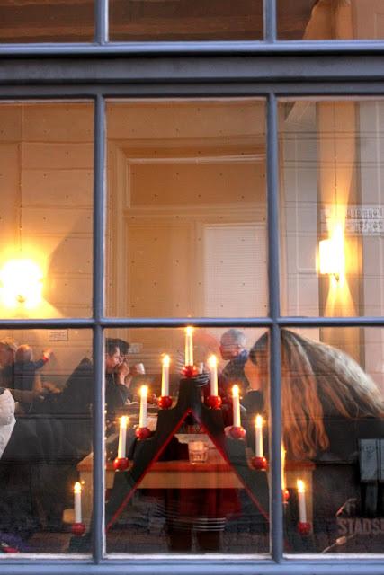 seven branched wooden candelabra, the Advent candlestick, stockholm
