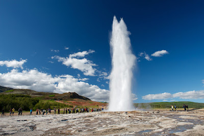 Strokkur geyser on the Golden Circle is part of a 7-day itinerary of South Iceland
