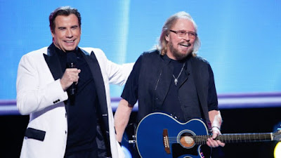 Barry Gibb and jhon travolta