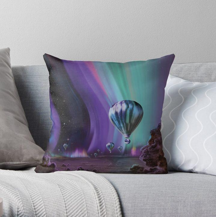 Auroras of Jupiter Pillow