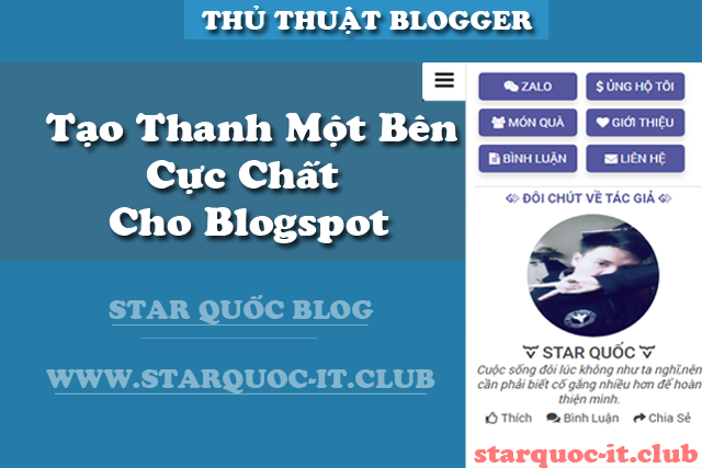 Tạo Thanh Support Một Bên Cực Chất Cho Blogspot