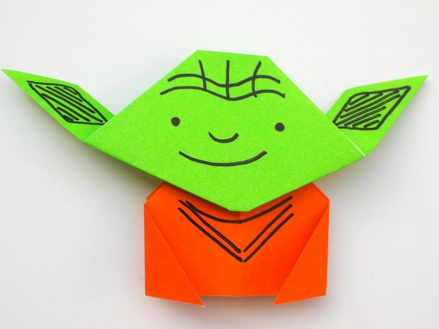 easy origami yoda tutorial pink stripey socks