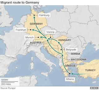 Беженецы на балканском маршруте